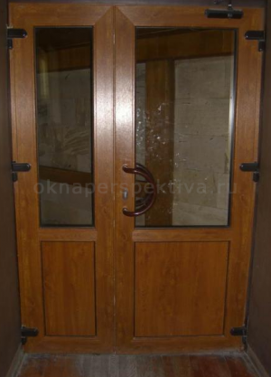 Дверь пластиковая двустворчатая 1800*2100 (теплая) цветная