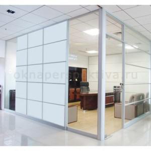 Офисная перегородка из стекла 3000*6000