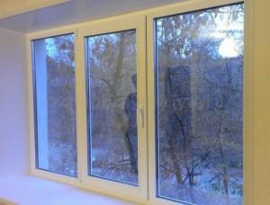 Окно 3 створки 2100 x 1400 Teplowin Classic 300( Plafen 58) Белый [24мм 4[16]4И]
