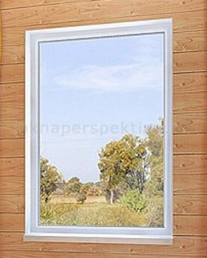 Окно 1300 x 1400 Teplowin Estetic 500 (NORD) белое