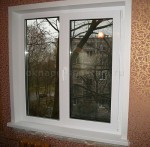 Окно 2 створки 1300 x 1400 DARRIO Балкон (Proplex 46) Белый [Стекло 4мм]