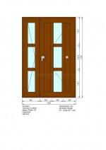 Дверь ПВХ П.1