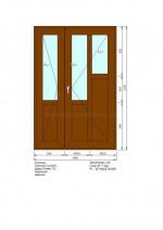 Дверь ПВХ П-2