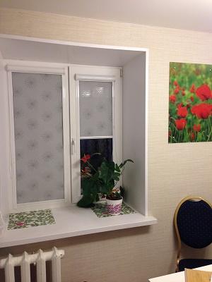 рулонные шторы на окнах фото